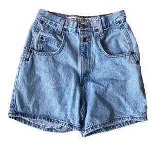Vintage High Waisted Light Blue Jean Denim Shorts